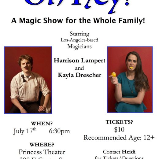 Oh Hey Magic Show Flyer